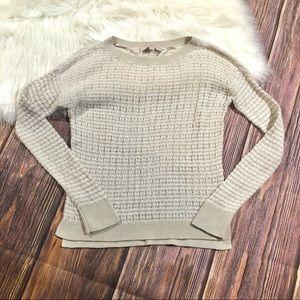 Ann Taylor Loft | Cream Open Knit Sweater Sz XS